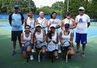 Asheboro Blue Comets Girls Varsity Tennis Fall 18-19 team photo.