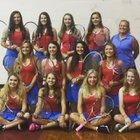 North Iredell Raiders Girls Varsity Tennis Fall 18-19 team photo.