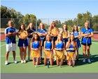 Sheridan Broncs Girls Varsity Tennis Fall 18-19 team photo.