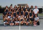 Aquinas Falcons Girls Varsity Tennis Fall 18-19 team photo.