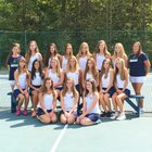 Weddington Warriors Girls Varsity Tennis Fall 18-19 team photo.