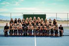 Lone Peak Knights Girls Varsity Tennis Fall 18-19 team photo.