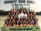 Summit SkyHawks Girls Varsity Tennis Fall 18-19 team photo.