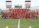 Harmony Grove Cardinals Boys Varsity Football Fall 19-20 team photo.