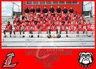 Lanier County Bulldogs Boys Varsity Football Fall 19-20 team photo.