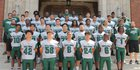 Trimble Tech Bulldogs Boys Varsity Football Fall 19-20 team photo.