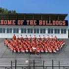 Hart County Bulldogs Boys Varsity Football Fall 19-20 team photo.