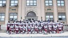 Penn Wood Patriots Boys Varsity Football Fall 19-20 team photo.