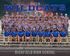 Richfield Wildcats Boys Varsity Football Fall 19-20 team photo.