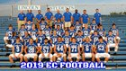 Lincoln Wolverine Boys Varsity Football Fall 19-20 team photo.