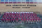 Oak Ridge Wildcats Boys Varsity Football Fall 19-20 team photo.