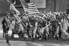 Scottsburg Warriors Boys Varsity Football Fall 19-20 team photo.
