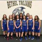 Bethel Christian Academy Trojans Girls JV Basketball Winter 16-17 team photo.