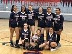 Richmond Oilers Girls Varsity Volleyball Fall 18-19 team photo.