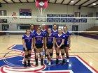 Midland Mustangs Girls Varsity Volleyball Fall 18-19 team photo.