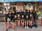 Athens Bulldogs Girls Varsity Volleyball Fall 18-19 team photo.