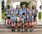 Ascension Episcopal  Girls Varsity Volleyball Fall 18-19 team photo.