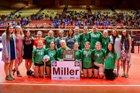 Miller Rustlers Girls Varsity Volleyball Fall 18-19 team photo.