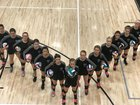 Plymouth South Panthers Girls Varsity Volleyball Fall 18-19 team photo.