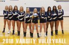 Mt. Pleasant Oilers Girls Varsity Volleyball Fall 18-19 team photo.