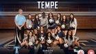 Tempe Buffaloes Girls Varsity Volleyball Fall 18-19 team photo.