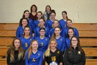 Tioga Tigers Girls Varsity Volleyball Fall 18-19 team photo.