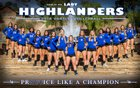 La Habra Highlanders Girls Varsity Volleyball Fall 18-19 team photo.