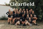 Clearfield Falcons Girls Varsity Volleyball Fall 18-19 team photo.