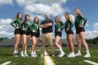 Medina Battling Bees Girls Varsity Volleyball Fall 18-19 team photo.