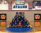 Athens Drive Jaguars Girls Varsity Volleyball Fall 18-19 team photo.