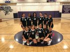 Hoover Tornadoes Girls Varsity Volleyball Fall 18-19 team photo.