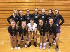 River Ridge Royal Knights Girls Varsity Volleyball Fall 18-19 team photo.