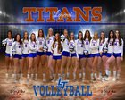 Legend Titans Girls Varsity Volleyball Fall 18-19 team photo.