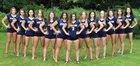 Victor Blue Devils Girls Varsity Volleyball Fall 18-19 team photo.