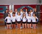 West Valley Rams Girls Varsity Volleyball Fall 18-19 team photo.