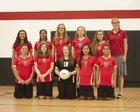Community Christian Crusaders Girls Varsity Volleyball Fall 18-19 team photo.