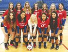 Hot Springs Tigers Girls Varsity Volleyball Fall 18-19 team photo.
