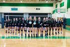 Myers Park Mustangs Girls Varsity Volleyball Fall 18-19 team photo.