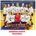 Anderson County Bearcats Girls Varsity Volleyball Fall 18-19 team photo.