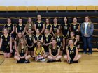 Guernsey-Sunrise Vikings Girls Varsity Volleyball Fall 18-19 team photo.