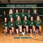 Clear Falls Knights Girls Varsity Volleyball Fall 18-19 team photo.