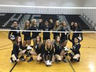 Granville Central Panthers Girls Varsity Volleyball Fall 18-19 team photo.