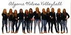 Algoma Wolves Girls Varsity Volleyball Fall 18-19 team photo.