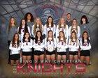 King's Way Christian Knights Girls Varsity Volleyball Fall 18-19 team photo.