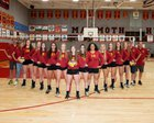Mammoth Huskies Girls Varsity Volleyball Fall 18-19 team photo.