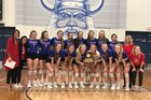 Midlothian Heritage Jaguars Girls Varsity Volleyball Fall 18-19 team photo.