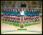 West Las Vegas Dons Girls Varsity Volleyball Fall 18-19 team photo.