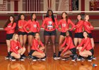 Cypress Lakes Spartans Girls Varsity Volleyball Fall 18-19 team photo.