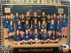 Valley View Blazers Girls Varsity Volleyball Fall 18-19 team photo.