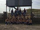 Mullen Broncos Girls Varsity Volleyball Fall 18-19 team photo.